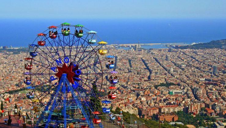 barcelona met kinderen reuzenrad